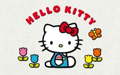 File to download for Hello Kitty Wallpaper - Kitty with Flowers