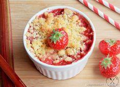 Crumble truskawkowo-rabarbarowe Enjoy Your Meal, Hummus, Acai Bowl, Risotto, Oatmeal, Breakfast, Ethnic Recipes, Kitchen, Food
