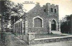 Tryon North Carolina 1912 Stone Congregational Church Antique Vintage Postcard Tryon North Carolina NC 1919 Congregational Church with complete exterior made of stone. Used Paul C. Kober, PCK, collect