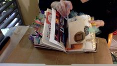 Quick Flip through of Junk Journal made for a swap