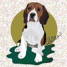 Puppy Vectors Portraits aileen copyright 2015 #aileencopyright