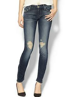 Not usually into distressed jeans but liking these ones / Mother The Looker Skinny Jean