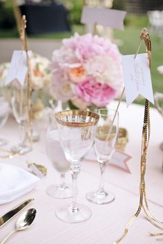 bride and groom tablescape by lovely little details
