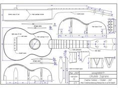 Free Mechanical Drawings | 16 Free Musical Instrument Plans: Strings, Wind and Percussion |