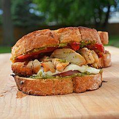 Grilled Pesto Chicken Sandwiches