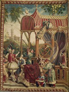 Garniture de trois vases «œuf» à décor chinois. Monture attribuée à Jean-Claude-Thomas Chambellan Duplessis. Porcelaine dure, manufacture royale de porcelaine de Sèvres, bronze, Paris, vers 1775-1776. Versailles.