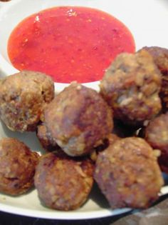 Tasty South Beach Meatballs from Food.com. Sound good, but not P1 with the all-bran. Maybe ground flax seed or something. These are quick easy, low carb, low sugar - ok for South Beach Stage 1-3
