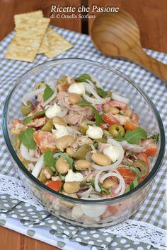 Healthy Salads, Easy Healthy Recipes, Healthy Eating, Lacto Vegetarian Diet, International Recipes, Food Videos, Italian Recipes, Salad Recipes, Good Food