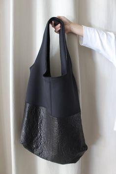 Shopper bag Shoppig bag Tote piel y neopreno por ElTallerAnaGaspar
