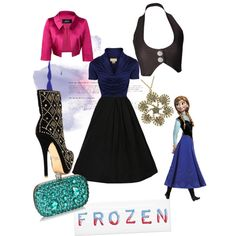 An outfit inspired by disney& movie frozen and the star anna Frozen Inspired Outfits, Frozen Outfits, Disney Themed Outfits, Disney Inspired Fashion, Disney Fashion, Disney Prom, Disney Dress Up, Disney Clothes, Dresses For Teens