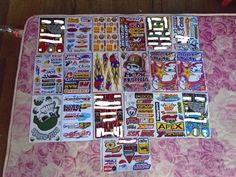19 New Mixed Sheets Sticker Decal Car ATV Bike Racing Helmet Motorcross Dirt BMX