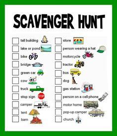 Image result for scavenger hunt ideas