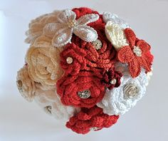 Hooking on Madrid's Metro: How to Make a Crochet Flower Bouquet Crochet Bridal Bouquet Wedding