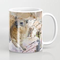 African Rock Hyrax Coffee Mug by CrismanArt - 11 oz Coffee Mugs, African, Ceramics, Art Prints, Rock, Tableware, Artwork, Microwave, Wraparound