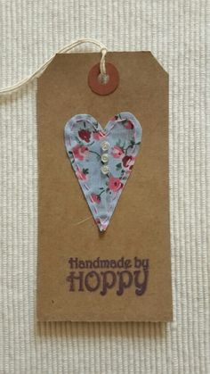 Handmade by Hoppy - Heart gift tag
