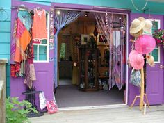 The Purple Door Craft Store in Crawford Bay, BC, Canada.