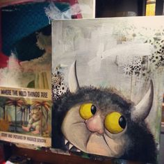 #wildthings #art #painting #curtisashby #diy #paint #book #memories