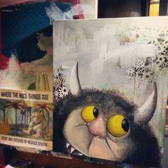 #wildthings #art #painting #curtisashby #diy #paint #book #memories