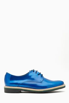 Miista Zoe Oxford - Iridescent Blue at Nasty Gal Shiny Shoes, Blue Shoes, Men's Shoes, Crazy Shoes, Me Too Shoes, Oxfords, Loafers, Walking In Heels, Runway Shoes
