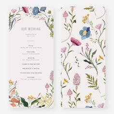 Herbs & Wildflowers Wedding Programs from Paper Culture Wedding Reception Ideas, Wedding Guest Book, Our Wedding, Wedding Planning, Dream Wedding, Unique Wedding Themes, Fun Wedding Programs, Wedding Paper, Spring Wedding