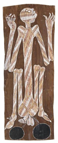 Wally MandargBark painting Wally Mandarg is a early bark painter from the Oenpelli Region. He has a distinctive and very traditional old school style.The aim of this article is to assist readers in identifying if their bark painting is by Wally Mandarg by comparing...