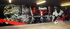 BOX CROSSFIT DECORADO CON MURAL GRAFFITI