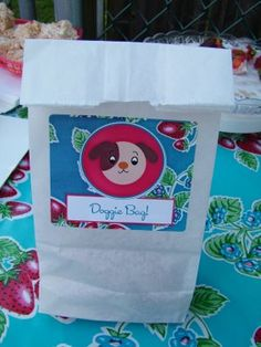 """Doggie Bags"" - Party Favors"