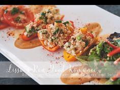 RECIPE: Fancy Cauliflower Stuffed Mini Peppers + Salad - YouTube