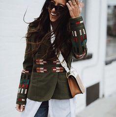 FORAY COLLECTIVE // #shopbyinfluencer, #instagramblogger, #bloggerstyle, #blogger, #stylish, #trendy, #fashionblogger, #influencer, #socialinfluencer, #outfits, #shop, #shopping, #fashiontrends, #fashion, #forwomen, #style, #tofollow, #inspiration, #foraycollective, #jackets, #embroideredjacket, #olivejacket, #greenjacket, #revolve
