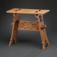 Medieval Trestle Stool by roncook on Etsy