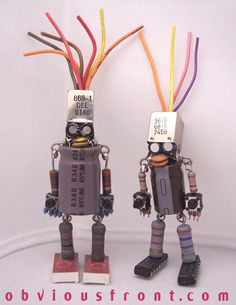 Obviousfront Robots in electronics art with Robot Recycled Electronics & E Waste