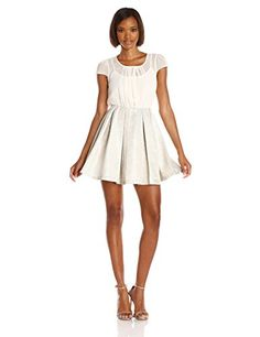 BCBGeneration Womens Blouse and Full Skirt Dress Whisper White 6 >>> Check this awesome product by going to the link at the image.(This is an Amazon affiliate link and I receive a commission for the sales)