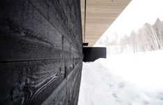 Residence Roy-Lawrence by Chevalier Morales Architectes, charred black timber facade