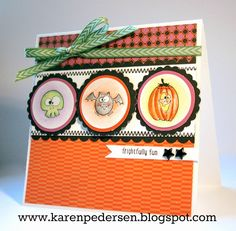 Karen Pedersen: Frightfully Fun Halloween Card