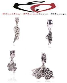Silver Bead Charm European Silver Angel Charm Pendant Bead Bracelet JWBD053 #Unbranded