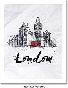 Poster London - Artwork - Art Print from FreeArt.com