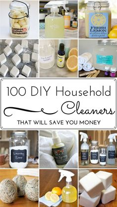 100 DIY Household Cleaner Recipes That Will Save You Money 00 receitas de limpeza doméstica DIY – Deep Cleaning Tips, House Cleaning Tips, Diy Cleaning Products, Cleaning Solutions, Spring Cleaning, Cleaning Hacks, Diy Hacks, Homemade Cleaning Supplies, All Natural Cleaning Products