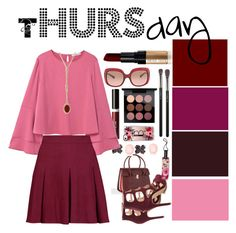 """Workweek - Thursday"" by rhaxkido ❤ liked on Polyvore featuring Paul Smith, Beauty Is Life, MANGO, Alice + Olivia, Bobbi Brown Cosmetics, MAC Cosmetics, Casetify, Mulberry, Coach and Kate Spade"