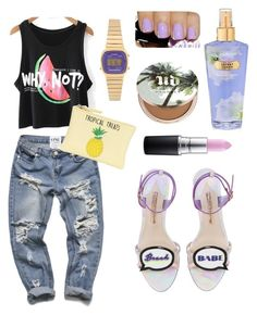 """Summer Date"" by brini-smalls on Polyvore featuring Mode, New Look, Sophia Webster, Casio, Urban Decay und MAC Cosmetics"