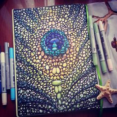 Colors of nature, sketching, doodling Copic markers, pens, Leuchtturm1917 @juliasavushkina