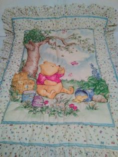 Classic Winnie the Pooh Nursery Crib Set Boy Girl 5 Piece Set