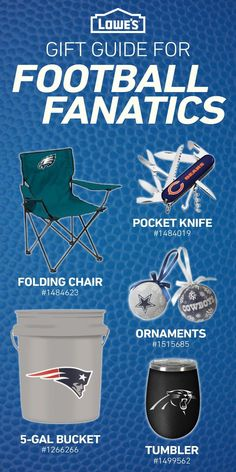 Show your team some love as the season comes to a close! Lowe's has you covered on all of your football gear so you can show up ready on game day.