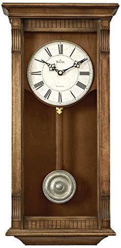 Warrick Weathered Wood Wall Chime Clock Bulova Wall Clocks With Pendulum Clocks Home Decor Craftsman Wall Clocks, Chiming Wall Clocks, Pendulum Wall Clock, Clock Decor, Weathered Wood, Home Wall Decor, Vintage, Grandfather Clocks