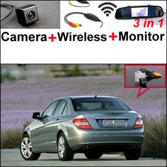3in1 Special WiFi Camera + Wireless Receiver + Mirror Monitor Rear View Parking Back Up System For Mercedes Benz C Class W204 #Affiliate
