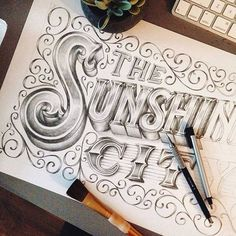 The #sunshine #city A beautiful work-in-progress from @mstrflashback #handmadefont