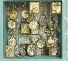 Use pocket watches as picture frames! Love it!