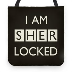 I Am Sherlocked | Tote Bags, Grocery Bags and Canvas Bags | HUMAN
