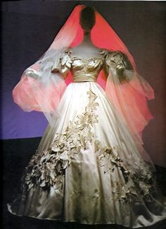 """Scarlet O'Hara wedding gown from the 1939 movie """"Gone With the Wind"""" at the Met Museum."""