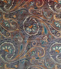 Brocade Fabric-Brocade Orange Brown Paisley & Special Occasion at Joann.com