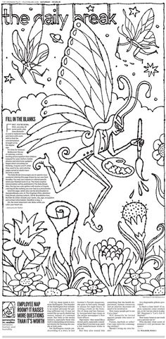 A coloring page. For grown-ups. The Virginian-Pilot's The Daily Break for Saturday, July 25, 2015 (via Charles Apple blog)
